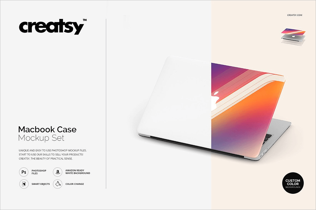 Macbook Cover Mockup