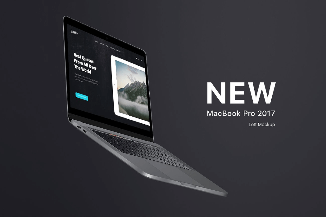 New Macbook Mockup PSD