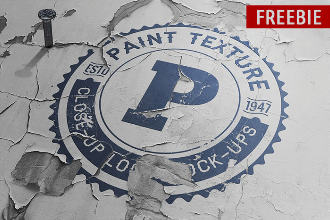 Old Paint Logo Mockup
