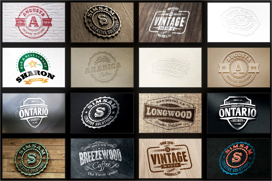 Pack Of Logo Mockup