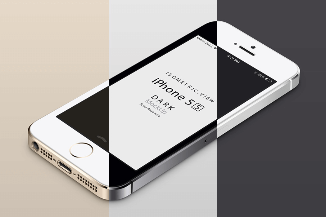 Perspective iPhone 5S Mockup