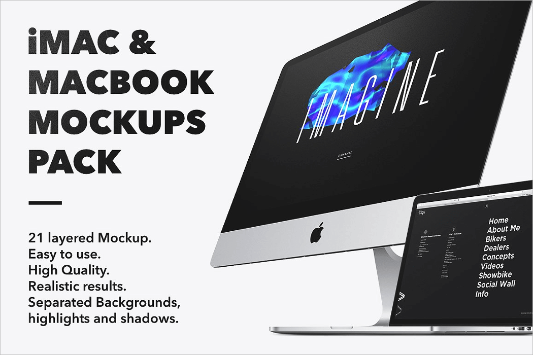 Realistic Macbook Mockup