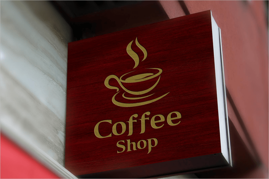 Shop Sign Logo Mockup