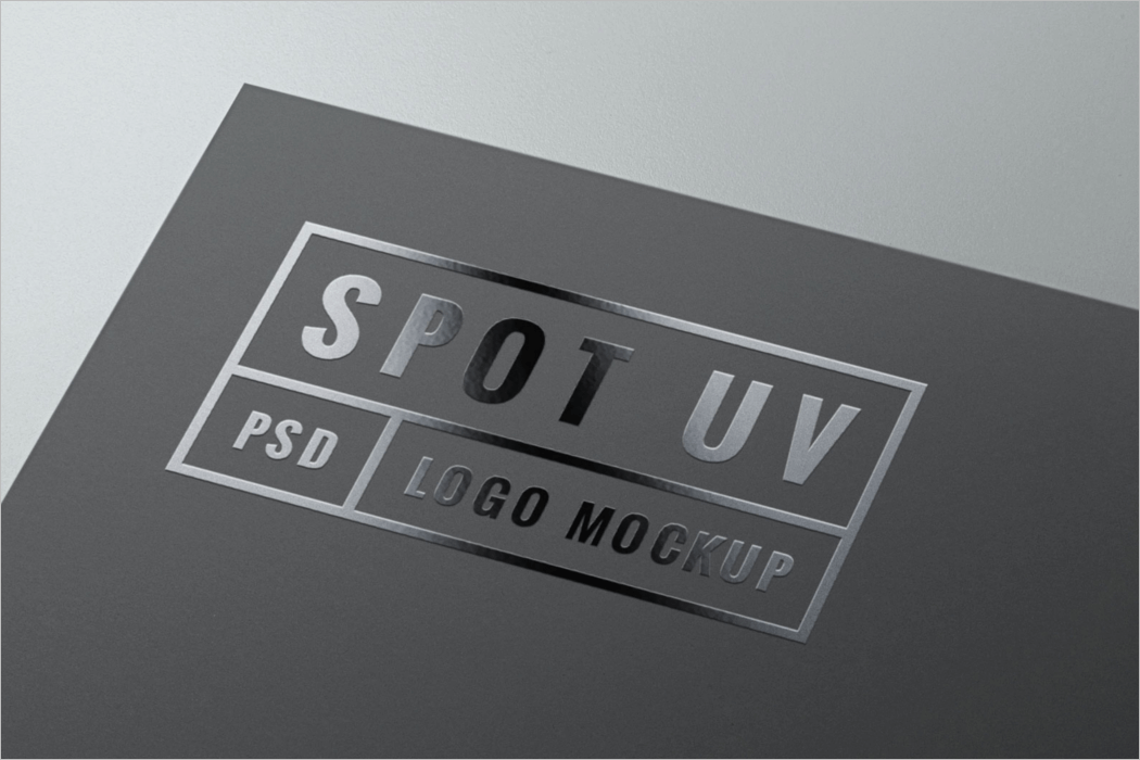 UV Coating Logo Mockup PSD