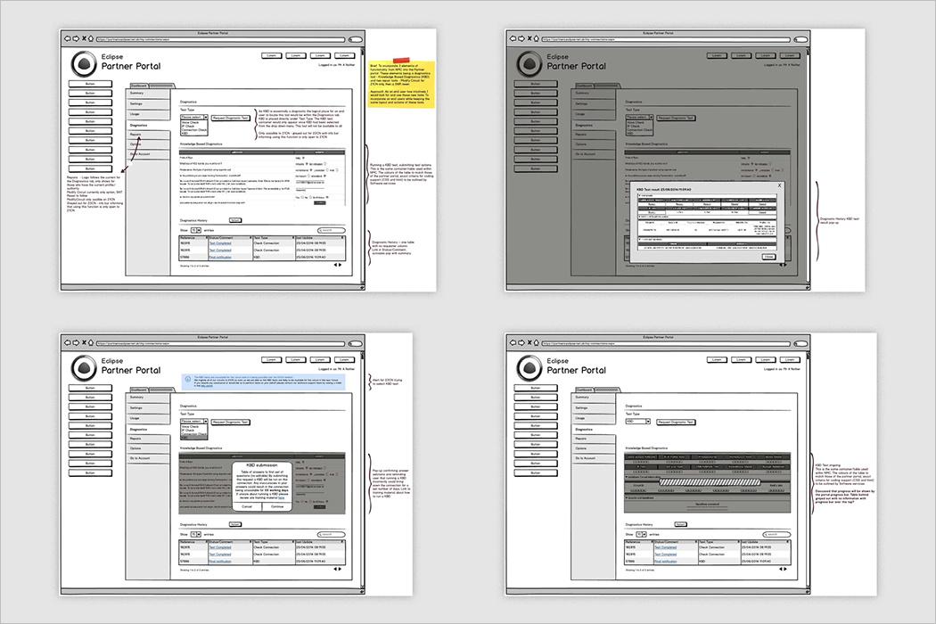 UX Wireframing Mockup Design
