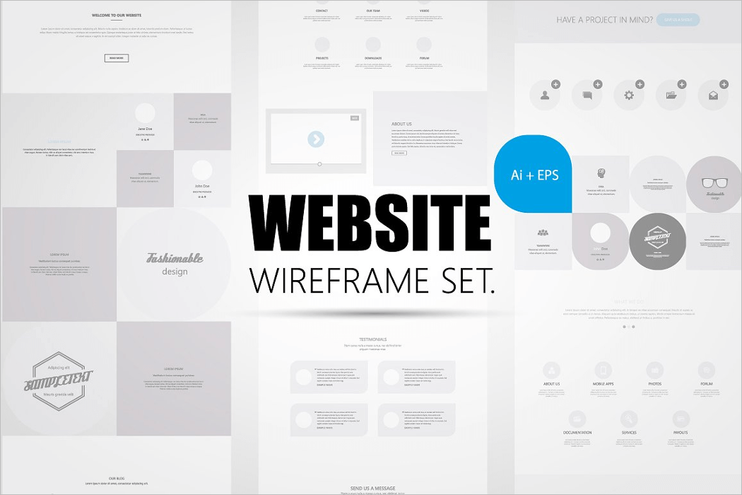 Website Wireframe Mockup Design