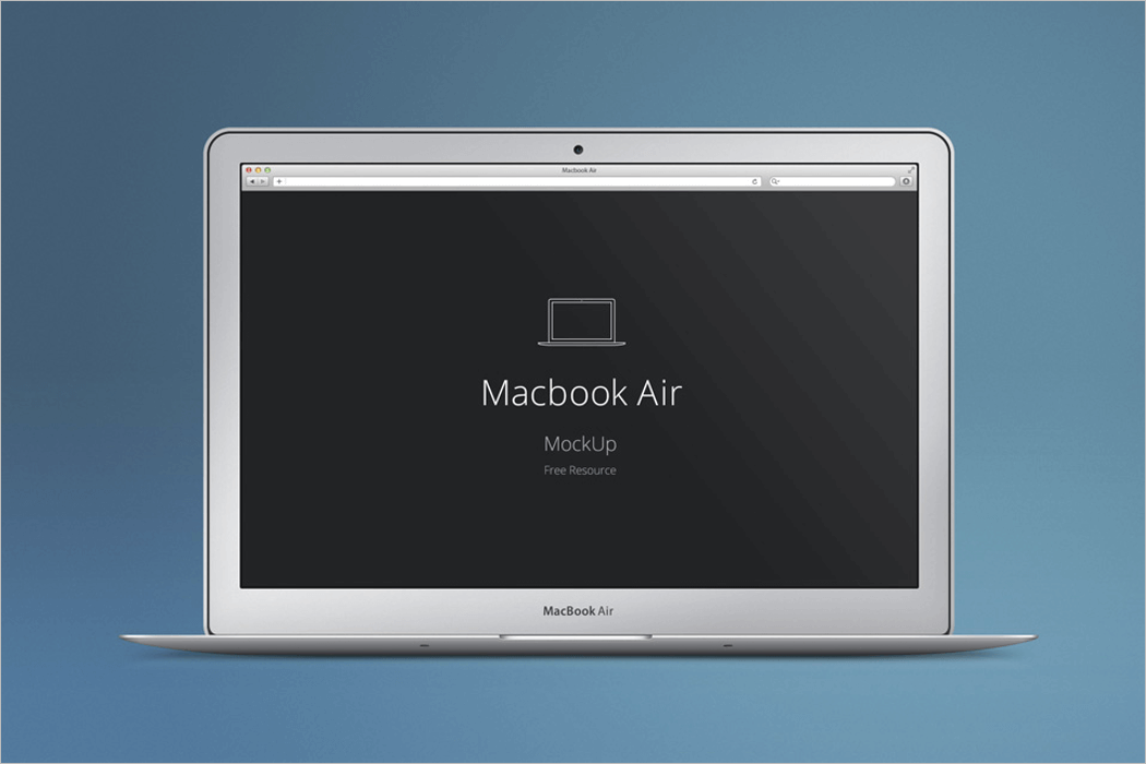White MacBook Mockup