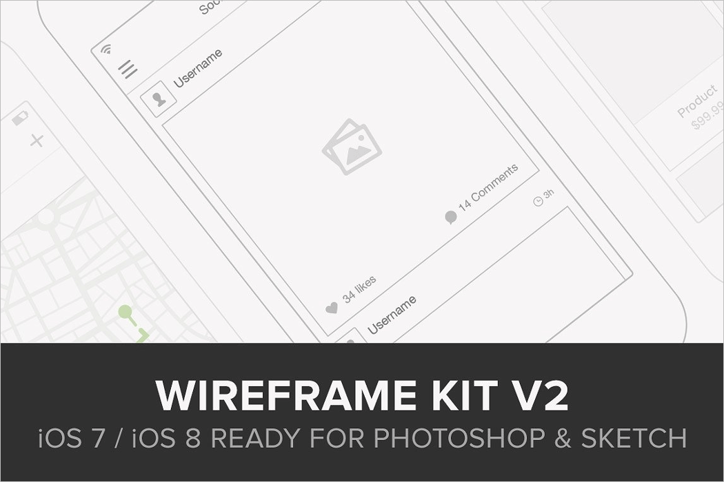 Wireframe Kit For Mockup Template