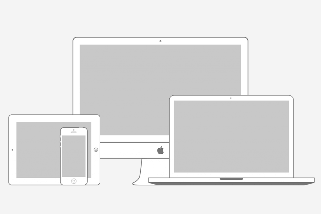 Wireframe Mockup Design For Apple Devices