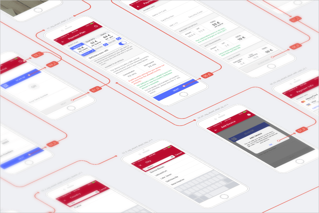 Wireframe Mockup For App Design