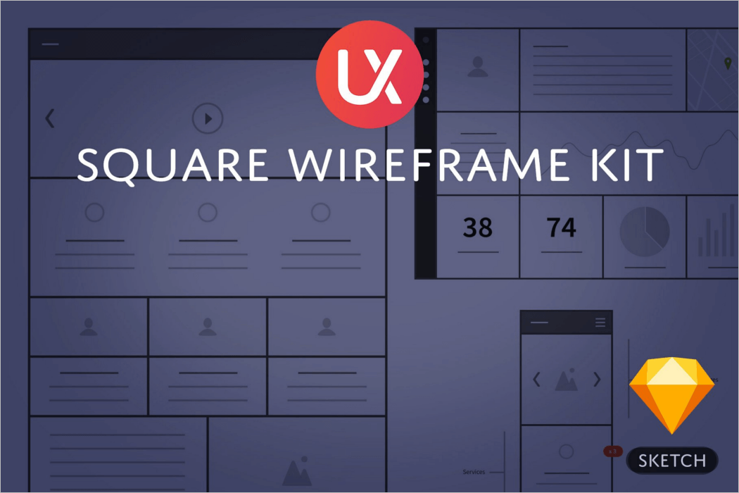 Wireframe UI Kit Mockup