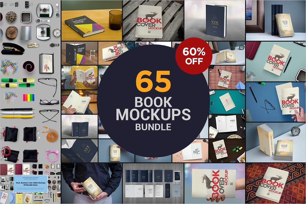 book mockups bundle