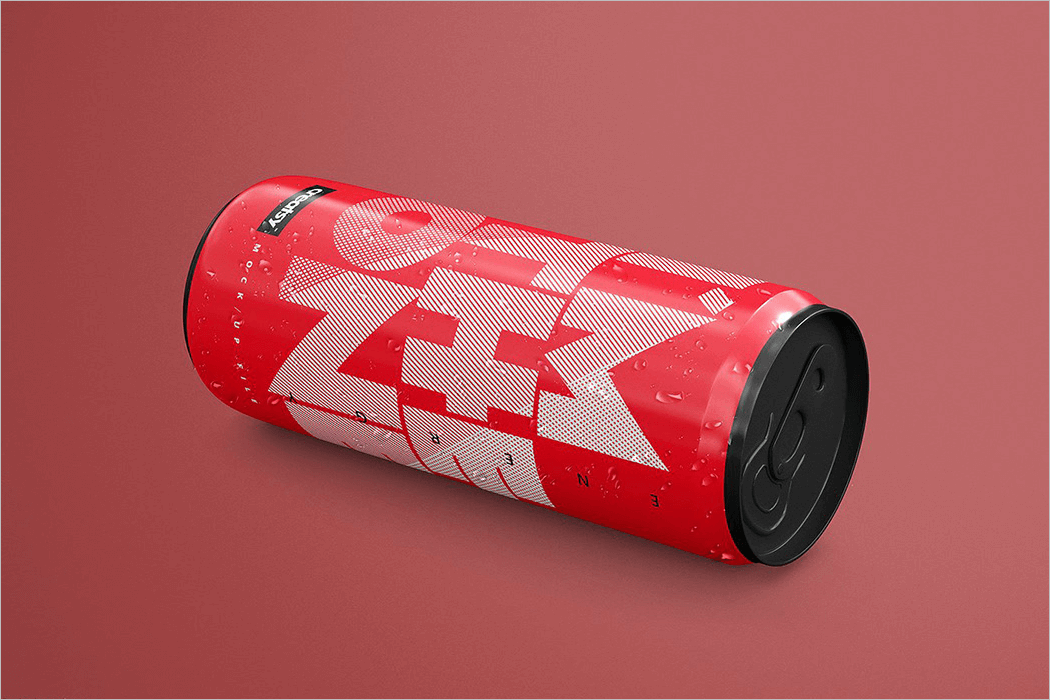 Cold Drink Can Mockup