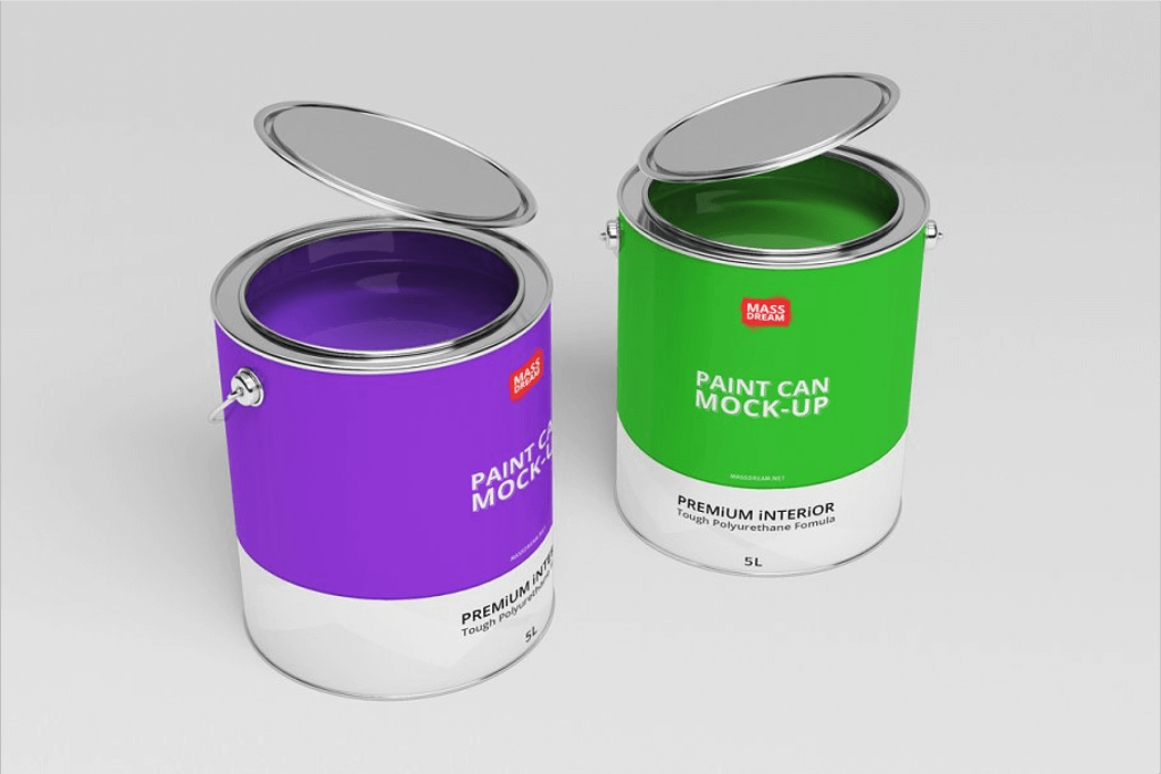 Paint Can Mockup Free Download