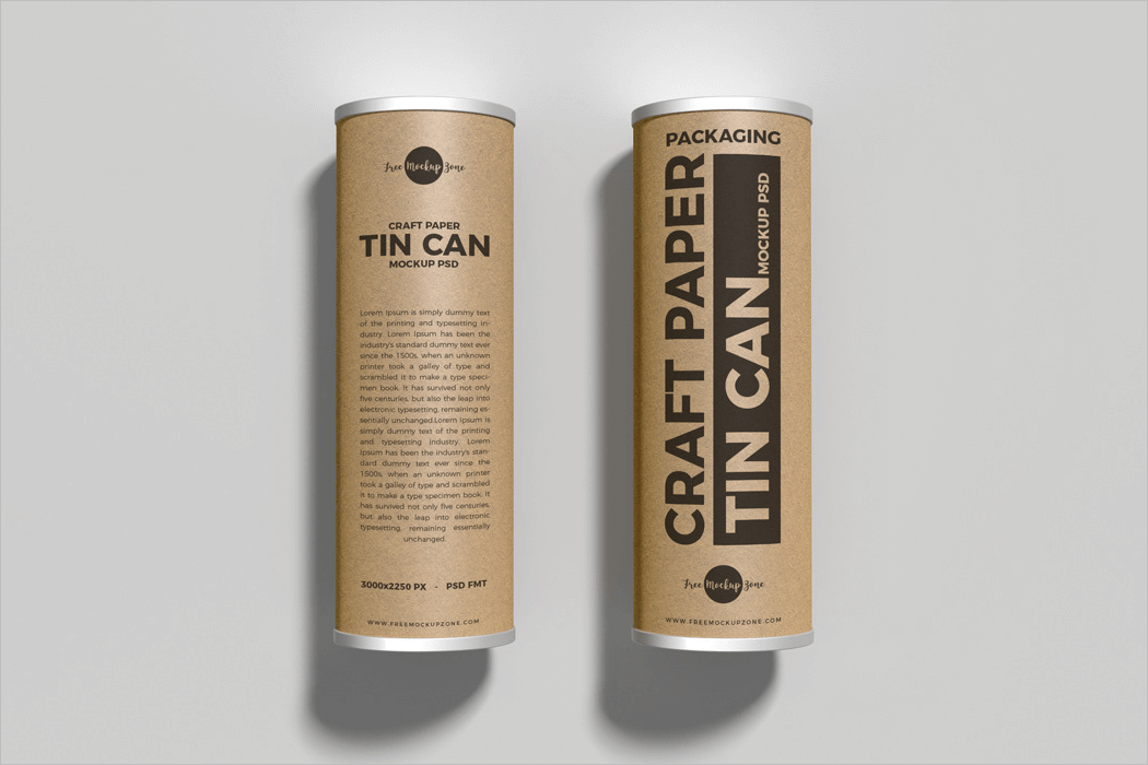 Paper Can Mockup