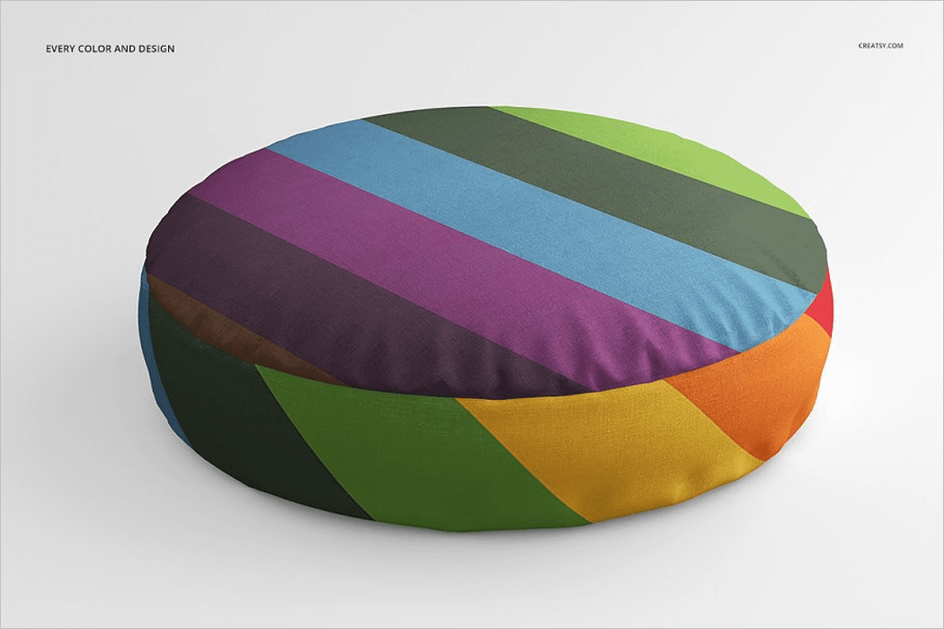Round Pillow Mockup