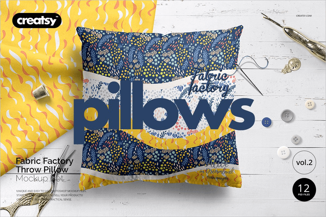 Sequin Pillow Mockup